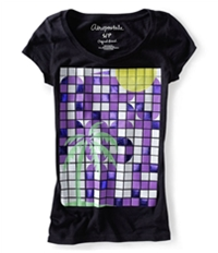 Aeropostale Womens Toucan Palm Tree Butterfly Graphic T-Shirt