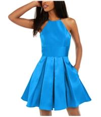 Bee Darlin Womens Halter Fit & Flare Dress