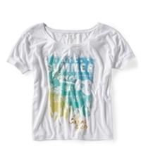 Aeropostale Womens Summerfest Dolman Graphic T-Shirt