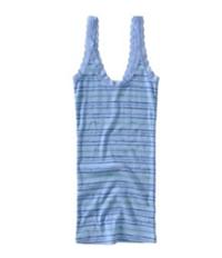 Aeropostale Womens Stripe Lacy Strap Tank Top