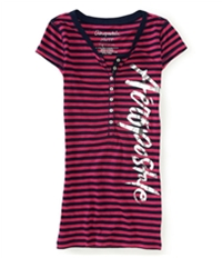 Aeropostale Womens Stripes Henley Shirt