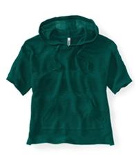 Aeropostale Womens Stripe Kint Popover Hooded Sweater