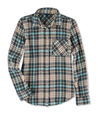 Aeropostale Womens Flannel Button Up Shirt