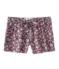 Aeropostale Womens Floral Print Waistie Casual Mini Shorts