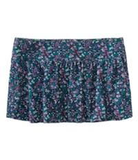 Aeropostale Womens Floral Corduroy Mini Skirt