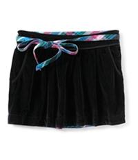 Aeropostale Womens Velour Removable Belt Mini Skirt