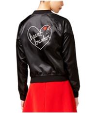 Material Girl Womens Heart Breaker Bomber Jacket