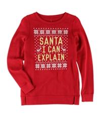 Aeropostale Girls Santa I Can Explain Sweatshirt