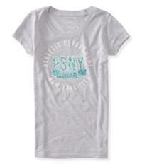Aeropostale Girls Glitter Athletic Graphic T-Shirt