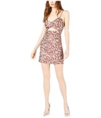 Leyden Womens Cutout Printed Mini Dress