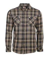 Quiksilver Mens Flannel Plaid Button Up Shirt