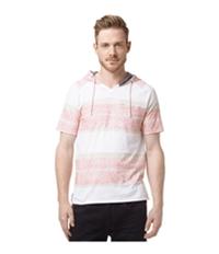 Buffalo David Bitton Mens Striped Hooded Graphic T-Shirt