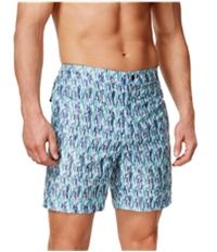 Calvin Klein Mens Vintage Geometric Swim Bottom Board Shorts