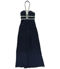 Bee Darlin Womens Embellished Gown Dress