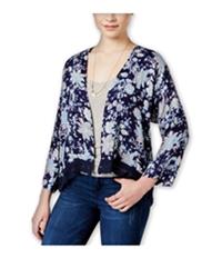 Roxy Womens Floral Open-Front Kimono Sweater