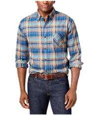 Weatherproof Mens Plaid Flannel Button Up Shirt
