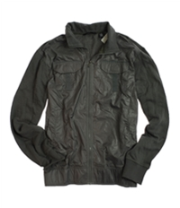Sean John Mens Full Zip Knit Back Field Jacket