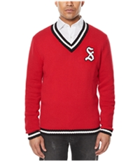 Sean John Mens Embroidered Pullover Sweater