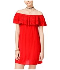 Speechless Womens Ruffle A-Line Dress