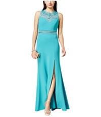 Bee Darlin Womens Rhinestone Gown Dress