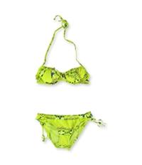 Raisins Womens Push Up Side Tie 2 Piece Bikini