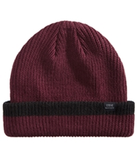 Steve Madden Mens Ribbed Cuffed Beanie Hat