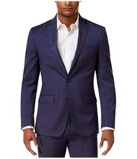 Sean John Mens Chambray Two Button Blazer Jacket