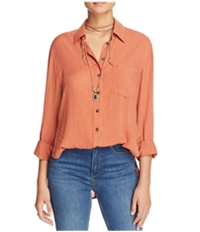 Free People Womens That's A Wrap Button Up Shirt
