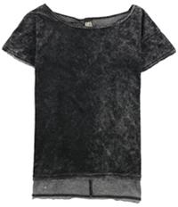 Free People Womens Washed Velvet Embellished T-Shirt