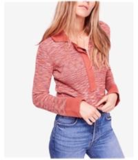Free People Womens Making Memories Henley Sweater