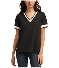 Dkny Womens Contrast Trim Basic T-Shirt