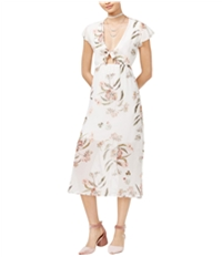 Love Fire Womens Tie Front A-Line Dress