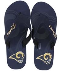 Forever Collectibles Womens La Rams Flip Flop Sandals