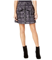 Rachel Roy Womens Textured Utility A-Line Skirt