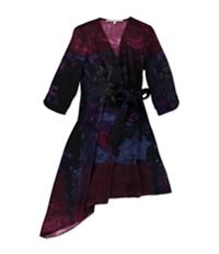 Rachel Roy Womens Multi-Tone Abstract Shift Dress