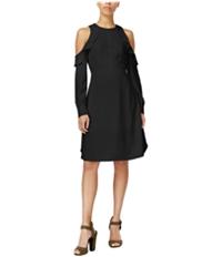 Rachel Roy Womens Cold-Shoulder Sheath A-Line Dress