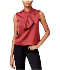 Rachel Roy Womens Sleeveless Bow Pullover Blouse