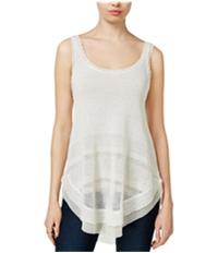 Rachel Roy Womens Contrast Sweater Tank Top