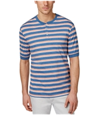 Weatherproof Mens Slub Striped Henley Shirt