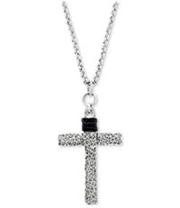 Steve Madden Mens Cross Necklace Chain