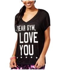 Material Girl Womens Run Mesh-Back Graphic T-Shirt