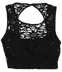 Bee Darlin Womens Lace Knit Blouse