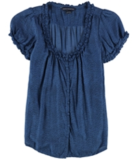 French Connection Womens Ruffle Cardigan Blouse