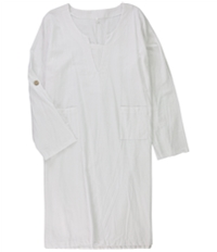 Tags Weekly Womens Solid Shirt Dress