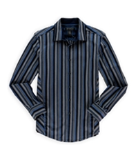 I-N-C Mens Multi Stripe Button Up Dress Shirt