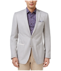 Tallia Mens Basketweave Two Button Blazer Jacket