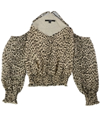 Guess Womens Printed Knit Blouse