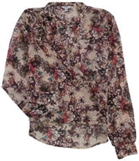 Guess Womens Ruffled Choker Pullover Blouse