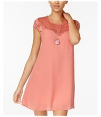 Bee Darlin Womens Lace Shift Dress
