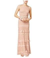 Speechless Womens Ruffled A-Line Dress